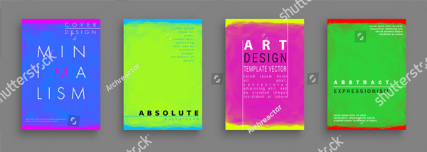 Minimalistic Painting Style Brochure Template