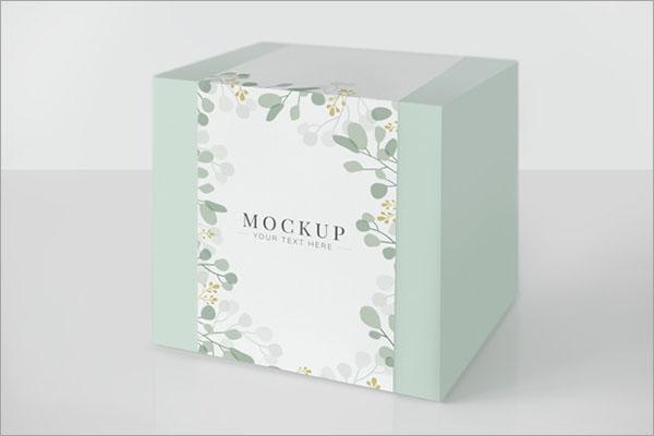 Mint Green Packaging Box Free PSD