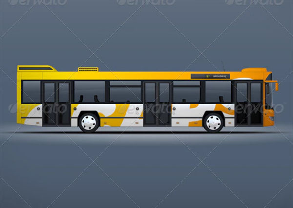 MockupFor Bus & Passanger Vehicle