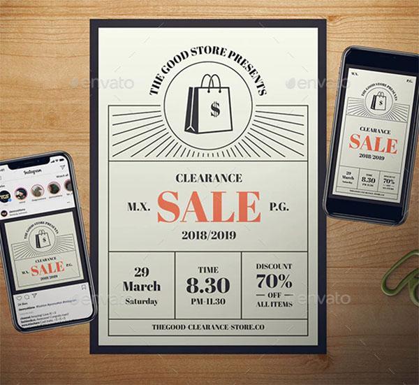 Modern Sale Flyer Set