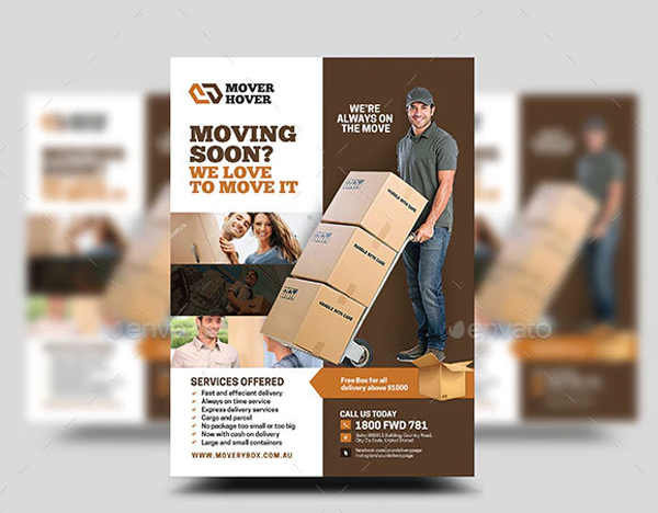 Mover and Local Transport Flyer Design Template