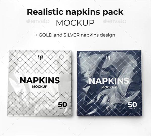 Multipurpose Napkins Pack Mockup