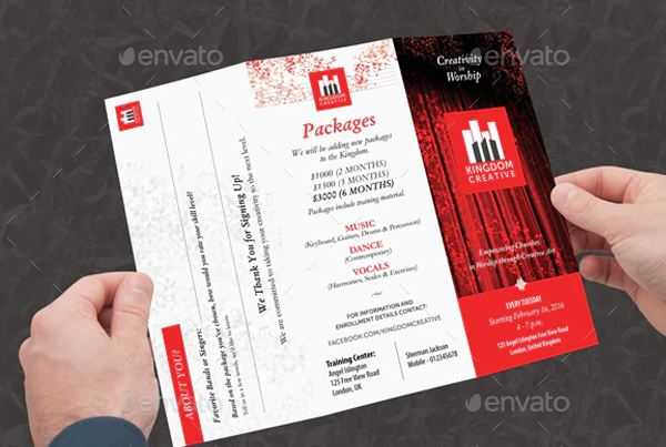 Music & Creative Art School Brochure Templates