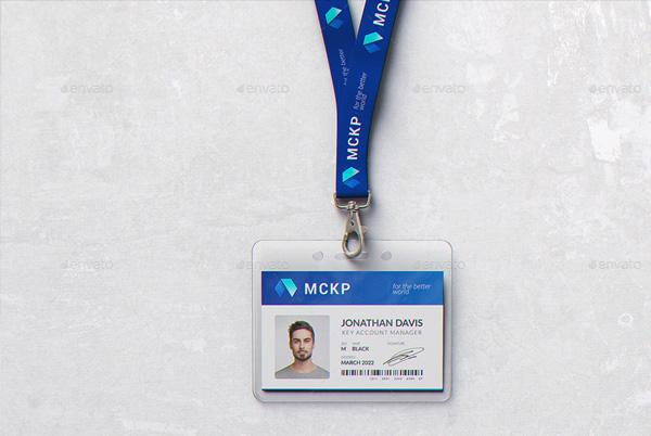 Name Tag Badge Mockup