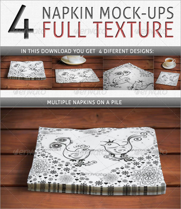 Napkin Full Texture mock-ups