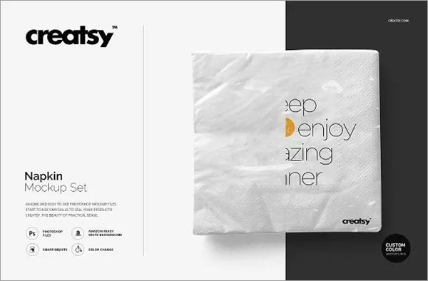 Napkin Mockup Set Free Download