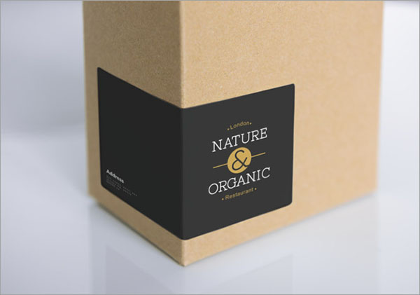 Natural Paper Box Packaging Free PSD