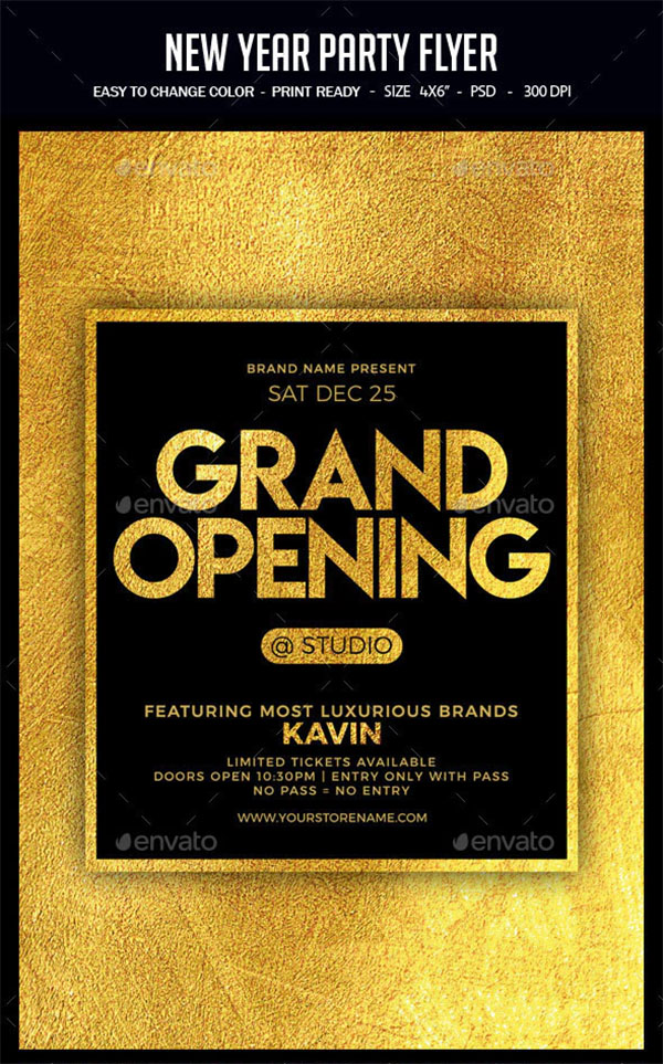 New Year Grand Opening Flyer
