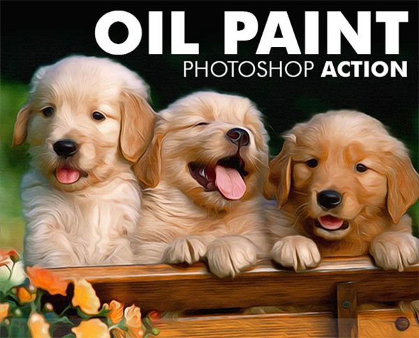 Oil Paint, Colorful Photoshop Action