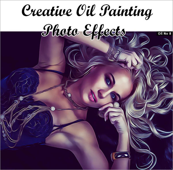 Oil Paint Photoshop Action Bundle