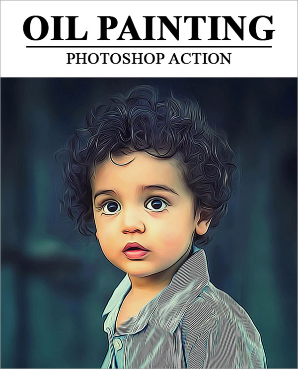 Oil Painting Photoshop, ATN Actions