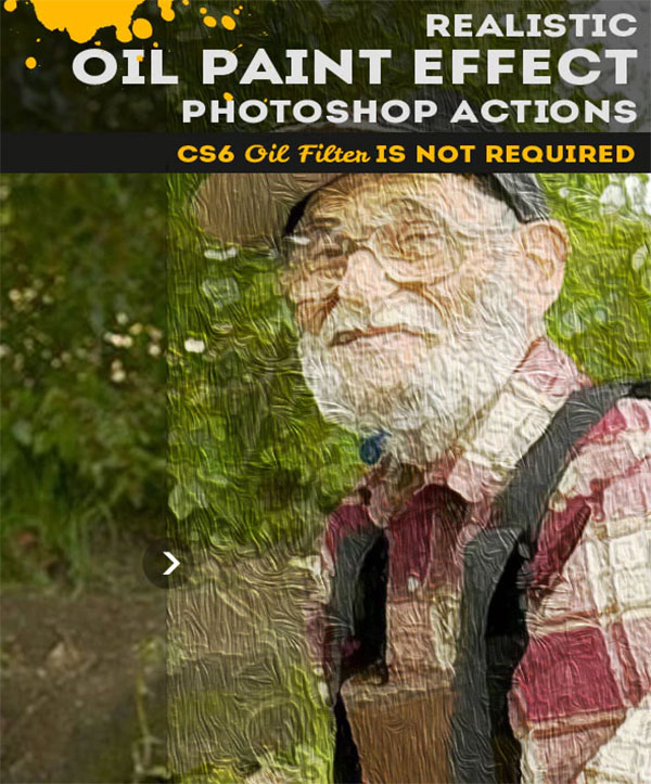 Oil Painting Photoshop Action Design