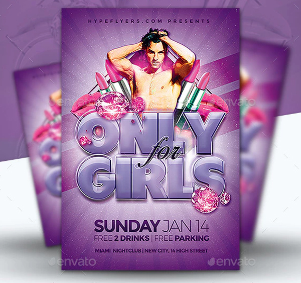Only for Girls Flyer