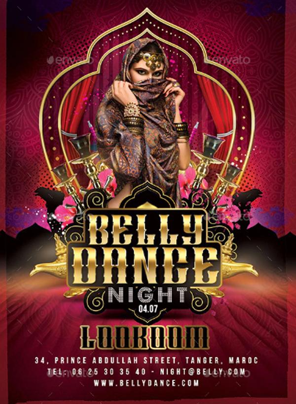 Oriental Belly Dance Night Flyer