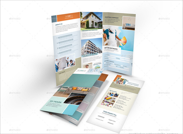 Paint Company Trifold Brochure