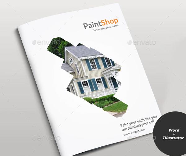 Paint Shop Brochure Template