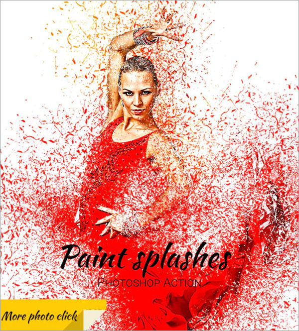 Paint Splashes Photoshop Action