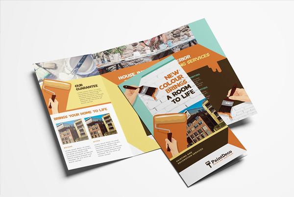 Painter & Decorator Trifold Brochure