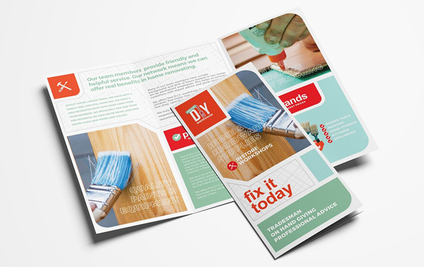Painting Tri-Fold Brochure Design Template
