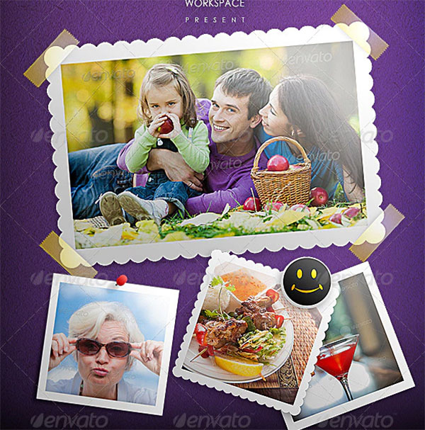 Photo Frame Template PSD Design