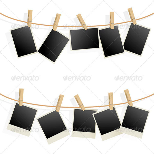 Photo Frames on Rope Template