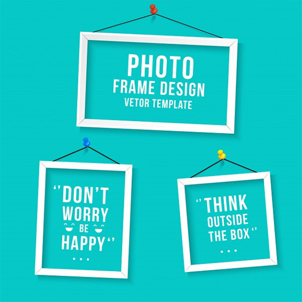 Photo frame template Free Vector