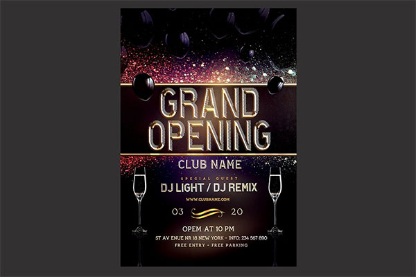 Photoshop Grand Opening Flyer