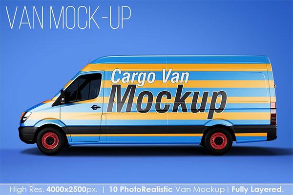Photoshop Van Mockup