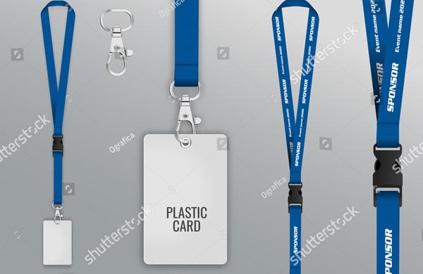 Plastic Badge Tag Mockup