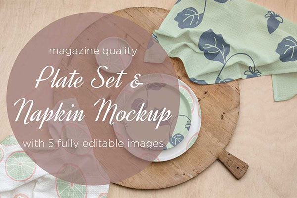 Plate & Napkin Mockup