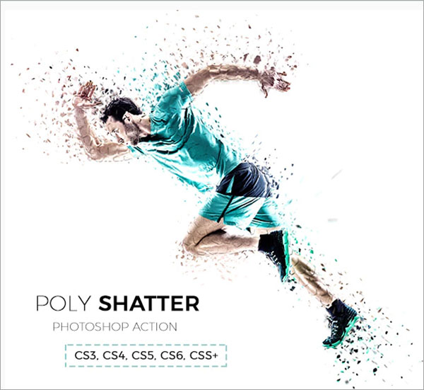 Poly Shatter Photoshop Action