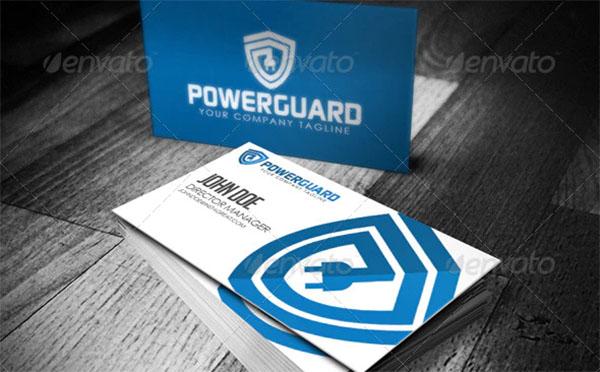 Power Guard PSD Logo Design