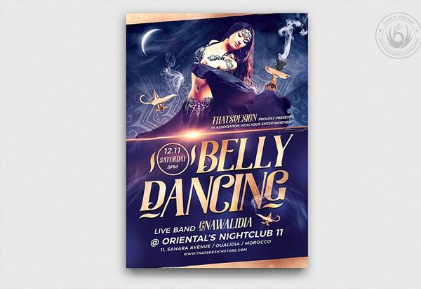 Printable Belly Dancing Flyer Template