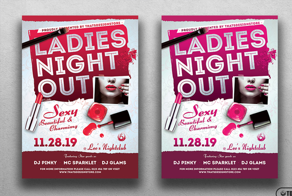Printable Girls Night Out Flyer Template
