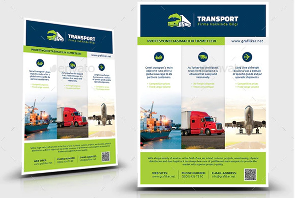 Printable Transport Flyer Templates