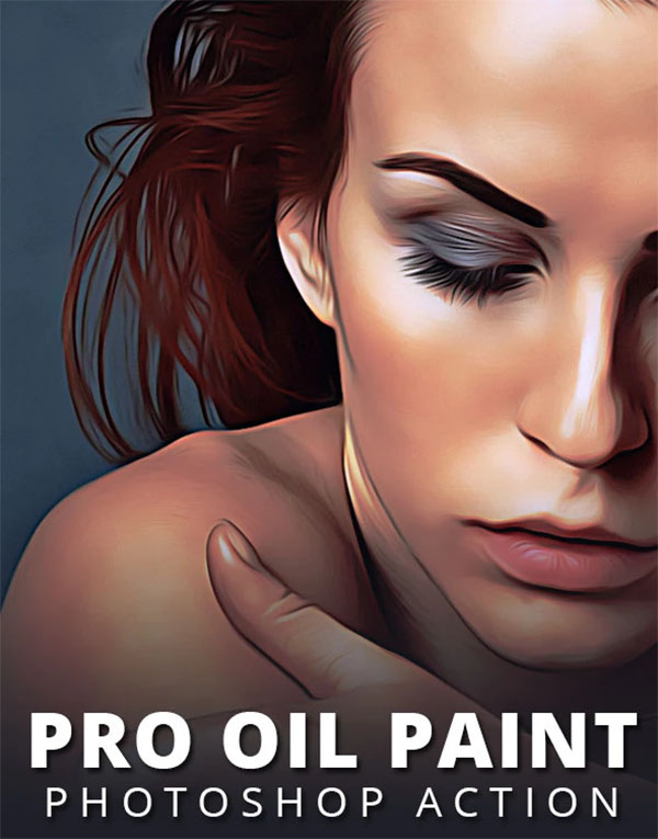 Pro Oil Paint Photoshop Action