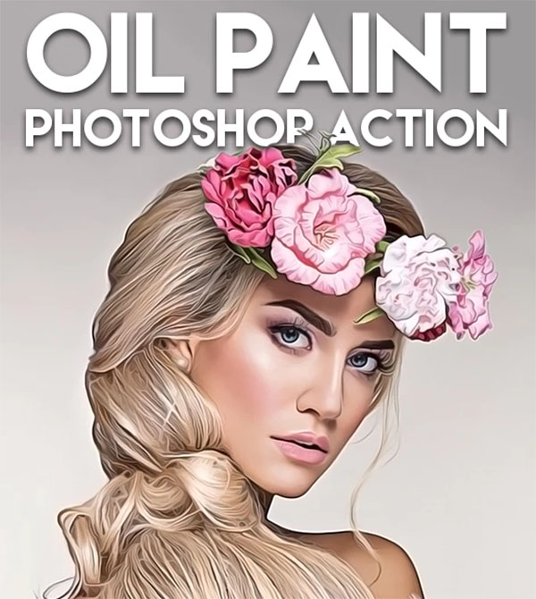 Professional Oil Paint Photoshop Action