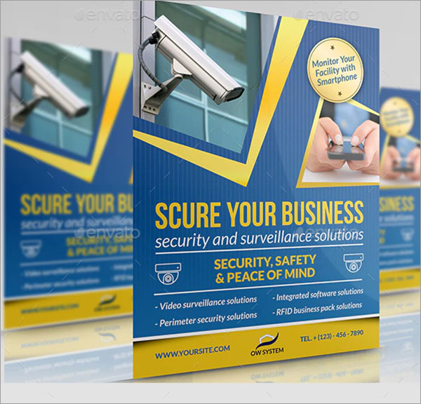 Professional Security System Flyer Template