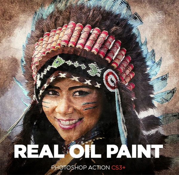 Real Oil Painting Photoshop Action