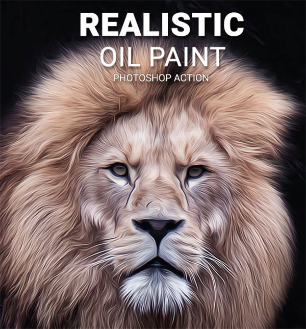 Realistic Oil Paint Photoshop Action