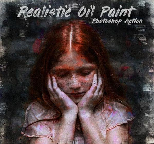 Realistic Oil Paint Photoshop Actions