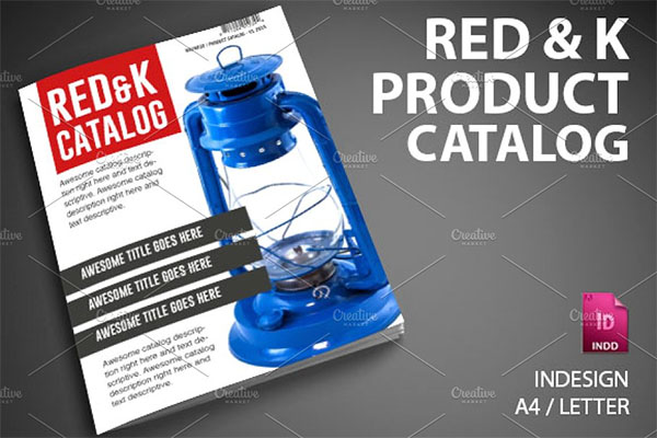 Red & K Product Catalog Template