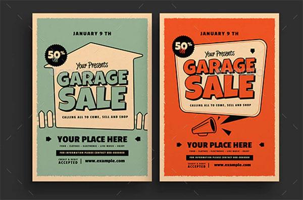 Retro Garage Sale Flyer
