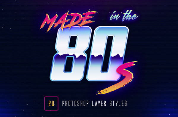 Retro Photoshop Layer Styles