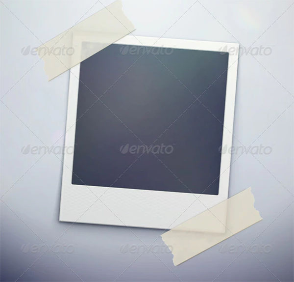 Retro Polaroid Photo Frame Template