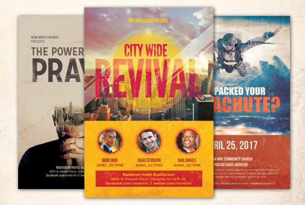 Revival Church Flyer Templates Bundle