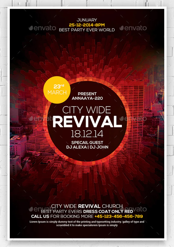 Revival Church Flyers Bundle
