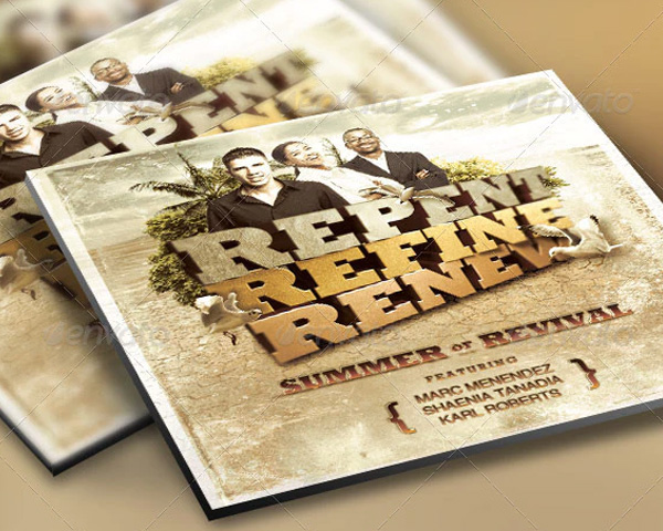 Revive Church Flyer & CD Template