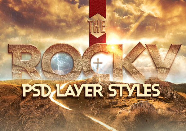 Rocky Photoshop Layer Styles