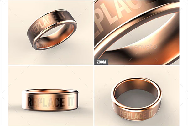 Rose Gold Band Ring Mock-up